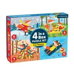 Puzzle mudpuppy 4w1 4, 6, 9 i 12 elem. - pory roku