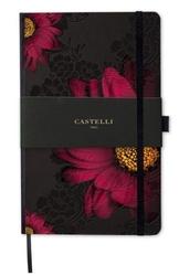 Notes castelli milano - midnight floral gerbera