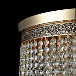 Kaskada wiszących kryształów lampa cascade maytoni classic dia522-cl-07-g