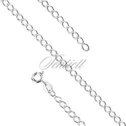 Bransoletka ozdobna srebrna rombus pr. 925 ø 060 - 3,5 mm