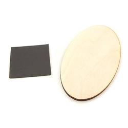 Drewniany magnes - owal - owal