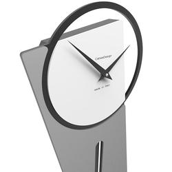 Zegar ścienny z wahadłem sherlock calleadesign cedrowo-zielony 11-005-51