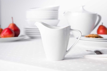 Mlecznik  dzbanek do mleka porcelana mariapaula moderna biała 250 ml