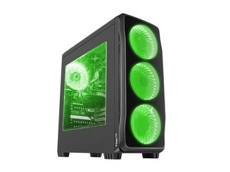 NATEC Obudowa Genesis Titan 750 USB 3.0 z oknem zielone podświetlenie