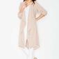 Beżowa płaszczowa sukienka z paskiem