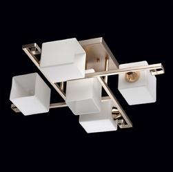 Lampa sufitowa do pokoju dziennego perłowo-złota megapolis demarkt 673011905