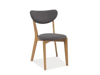 Krzesło klasyczne z drewna - siedzisko tapicerowane - fieno