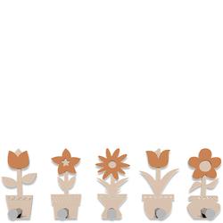 Wieszak ścienny Little Flowers CalleaDesign różowo-piaskowy 13-003-21