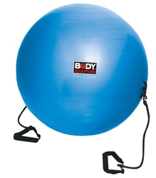 Piłka gimnastyczna antiburst z gumami fitness bb 001tr 65 cm - body sculpture