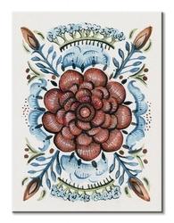Folk floral iv - obraz na płótnie