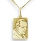 Medalik z żółtego złota z błogosławiony jan paweł ii, wec-z-jp-ii-5-2 - ok. 21 mm x 10 mm