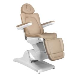 Fotel kosmetyczny elektr. azzurro 870 3 siln. cappuccino