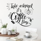 Naklejka na ścianę - take a break, its coffee time , wymiary naklejki - szer. 125cm x wys. 100cm