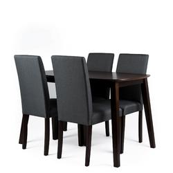 Krzesło kuchenne tapicerowane vadento szare