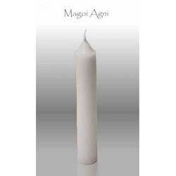 Świeca z wosku 9x1,2cm - biała 5 sztuk