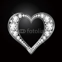 Obraz na płótnie canvas diamentowe serce diamentowe serce