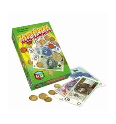 Złotówki bilon banknoty multigra, pieniądze do zabawy