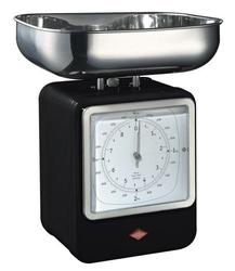 Waga kuchenna z zegarem Retro czarna