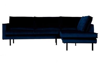 Be pure prawa sofa narożna rodeo ciemnoniebieski 800971-178