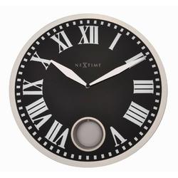 Nextime - zegar ścienny romana 43 cm - czarny