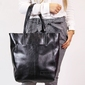 Skórzana torebka dan-a t379 czarna - czarny