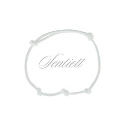 Bransoletka baza do zawieszki kolor biały - biały woskowany połysk