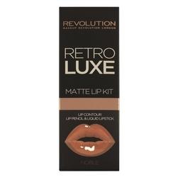 Makeup revolution retro luxe matte lip kits zestaw do ust konturówka +błyszczyk noble 1op.