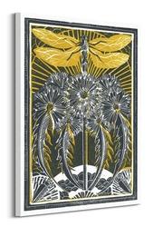 Dragonfly dandelions - obraz na płótnie