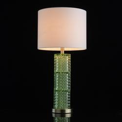 Zielona lampka do sypialni z białym abażurem mw-light neoclassic 720031101