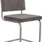 Zuiver :: krzesło ridge brushed rib szare 6a