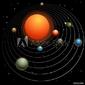 Obraz na płótnie canvas dwuczęściowy dyptyk układ słoneczny