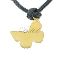 Srebrna zawieszka do bransoletki pr.925  złocony motylek do grawerowania
