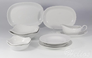 Serwis obiadowy bez wazy dla 12 os.44 części - 0001 rococo