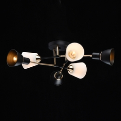 Lampa sufitowa białe i czarne klosze ribbon demarkt megapolis 718010506