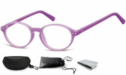 Okulary dziecięce zerówki okrągłe lenonki pk15e fioletowe