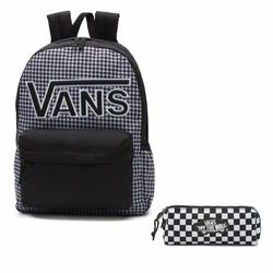 Plecak VANS Realm Flying V Backpack - Houndstooth BlackWhite | VN0A3UI8YER 006 + Piórnik