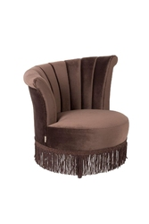 Dutchbone :: fotel tapicerowany flair brązowy
