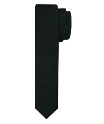 Czarny jedwabny krawat profuomo 5 cm