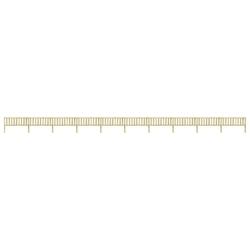 Vidaxl ogrodzenie z impregnowanego drewna sosnowego, 17,66x1,1 m