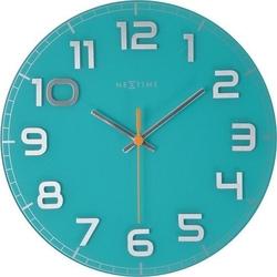 Zegar ścienny classy round turkusowy