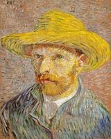 Autoportret w kapeluszu słomkowym, vincent van gogh - plakat wymiar do wyboru: 59,4x84,1 cm