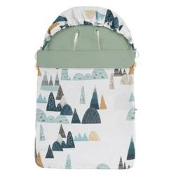 Śpiwór bawełniany wiosenno-letni samiboo superb mini z regulowaną grubością - góry z khaki