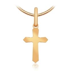 Staviori krzyżyk. żółte złoto 0,333. wymiary 11x6 mm. wysokość całk.16 mm.