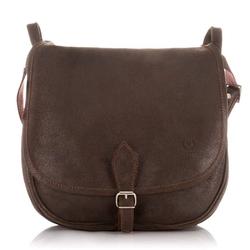 Skórzana torba listonoszka damska vintage paolo peruzzi ga301 c.brązowa - c. brązowy