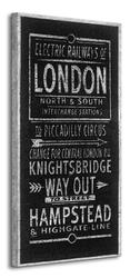 Electric railways of london - obraz na płótnie