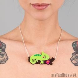 Naszyjnik punky pins - chameleon