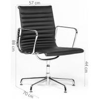 Skórzany fotel obrotowy dolfio ii 88 cm włoska skóra biały