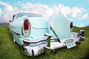 Fototapeta niebieskie stare auto fp 2370