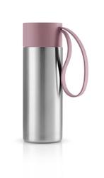 Kubek termiczny To Go Cup z różowym uchwytem