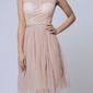 Soky soka  sukienka kremowy 57001-2